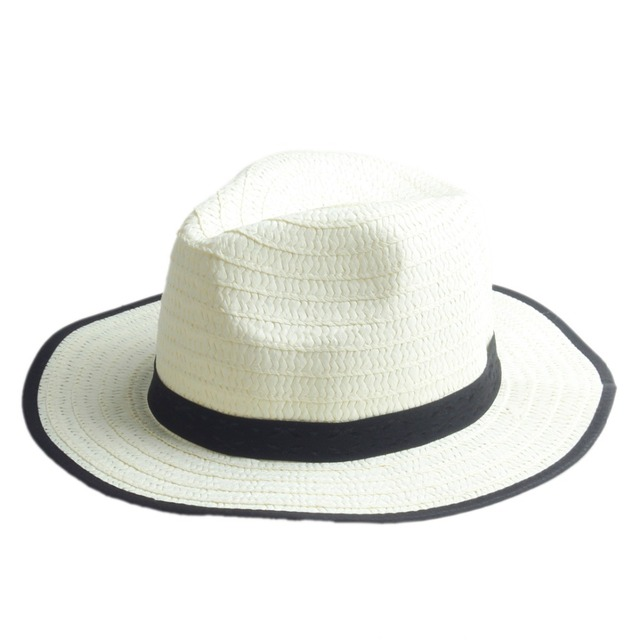 Wholesale 7PCS Lot Summer Child Straw Fedora Hats Trilby Gangster Cap Boy  girl wide Brim Sunhat Kids Beach hat Panama Hat 15 b610e86393b0