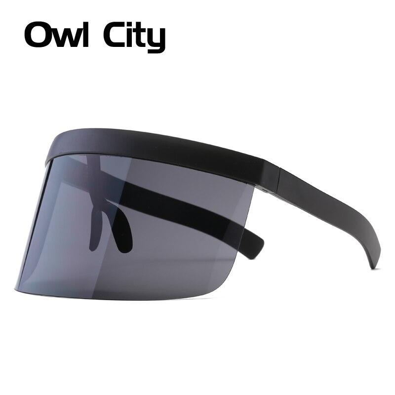 Übergroßen Halbrand Sonnenbrillen Frauen Männer Futuristische Große ...
