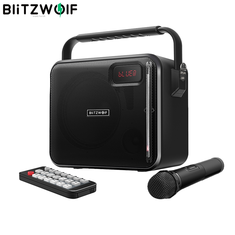 BlitzWolf bluetooth Party Karaoke Speaker V4 1 20W 3600mAh AUX in USB FM Mode Portable Wireless