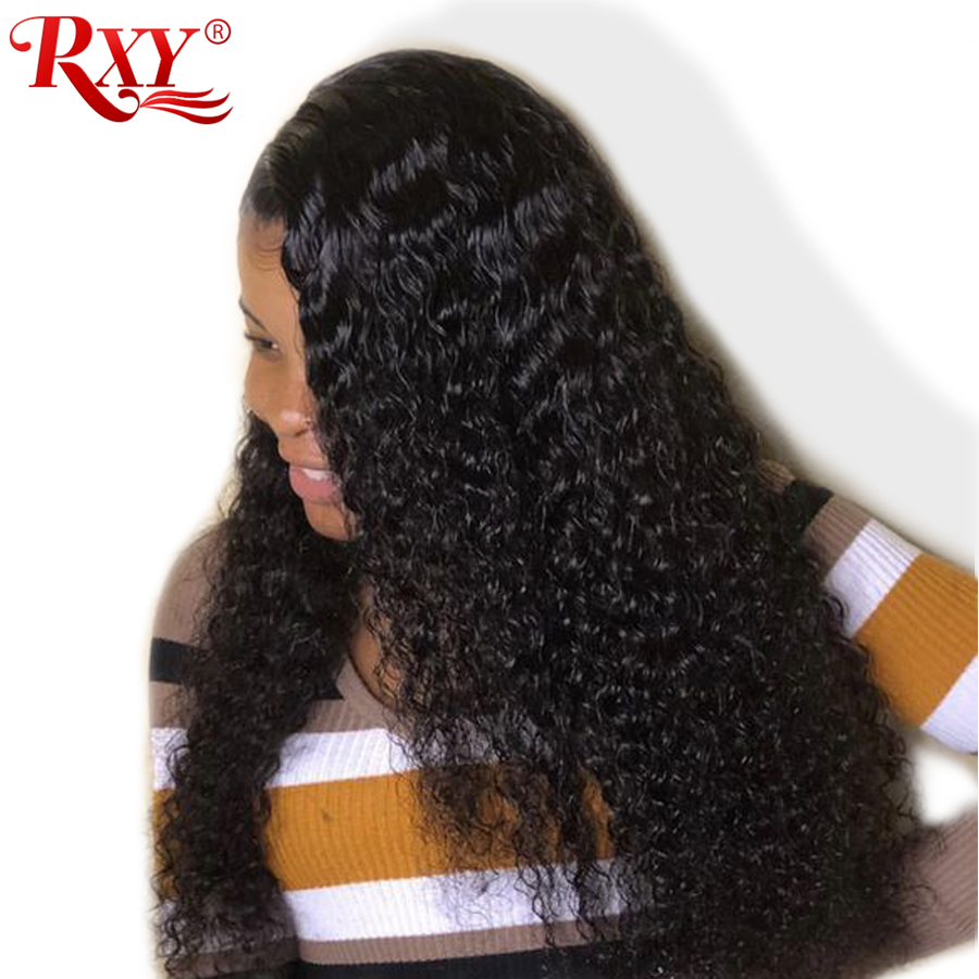 Brazilian Deep Wave Lace Front Wig With Baby Hair Lace Wigs RXY Preplucked Curly Lace Front