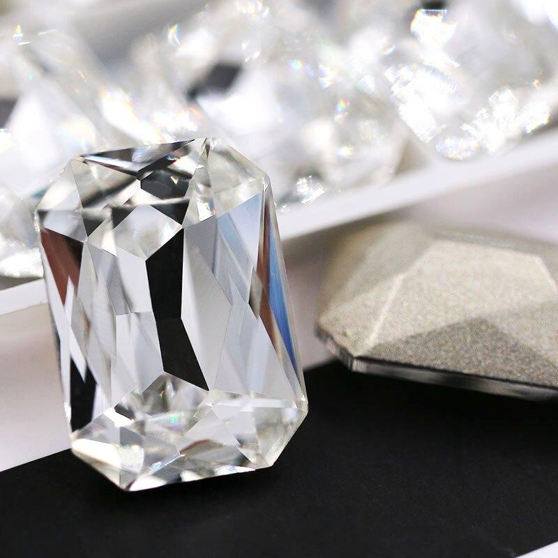10x14mm/13x18mm Rectangular Octagonal Shape Pointback Glass Rhinestones Crystal Strass Diy Clothing Accessories