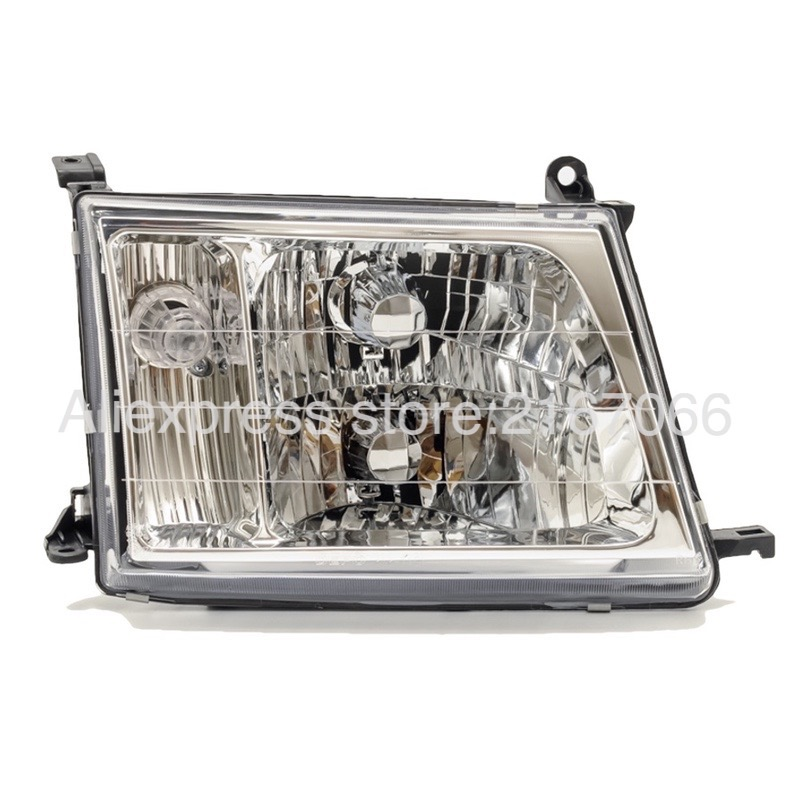 Headlight Right for Toyota Land Cruiser 100 2000 2001 2002 2003 2004 2005 Headlamp Passenger Side  - Manual Leveling