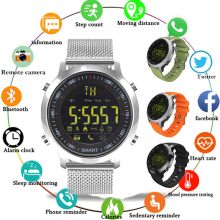 цены на TOP Newest EX18 Sport Smart Watch IP68 Waterproof 5ATM Passometer Xwatch Swimming Smartwatch Bluetooth Watch for Smartphone 2019 в интернет-магазинах