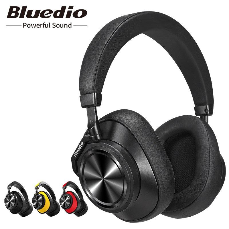 Original Bluedio T6 Active Noise Cancelling Fones De Ouvido Sem Fio Bluetooth Fone de Ouvido com microfone para telefones celulares e música