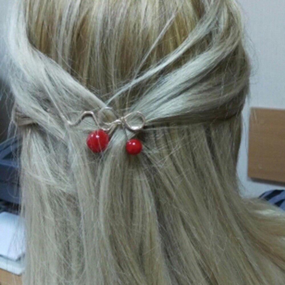 Черешня образный зажим для волос красный бант шпильки твист Заколки для волос головной убор Обувь для девочек Женские аксессуары для волос ...