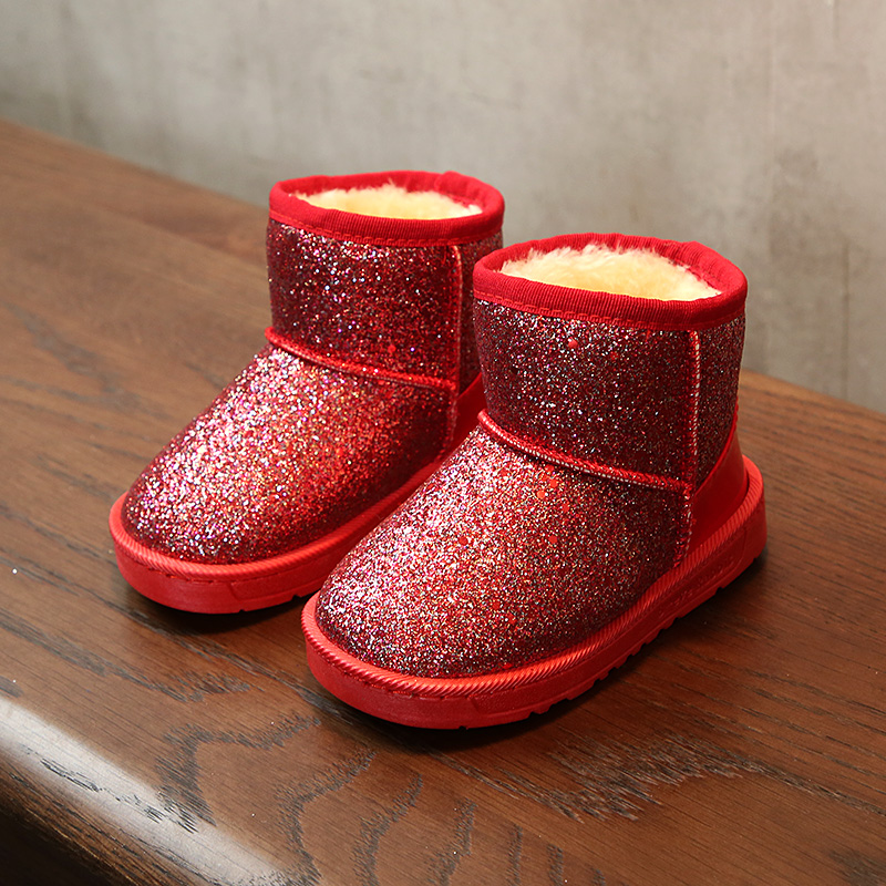 2017 winter new Fashion girls boots chaussure foot warmer cute flat princess snow boots Super soft