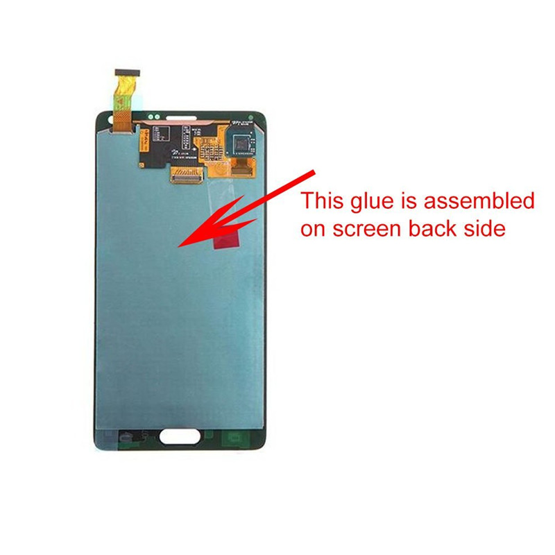 500pcs/lot New LCD Display Back Adhesive Glue Tape Replacement for Samsung Galaxy Note 4 N910 N910A Repair LCD Screen Backlight