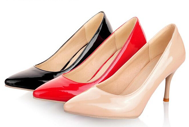 2015 Brand Women Bridal Shoes High Heels Sexy Woman Pumps Ladies Pointed Toe Eur size 30~45