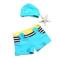 Baby Jongen Kofferbak badpak jongen badmode tweedelige Badpak Zwembroek Cartoon Kinderen Badpak Jongens Zomer Dragen Zwembroek Shorts