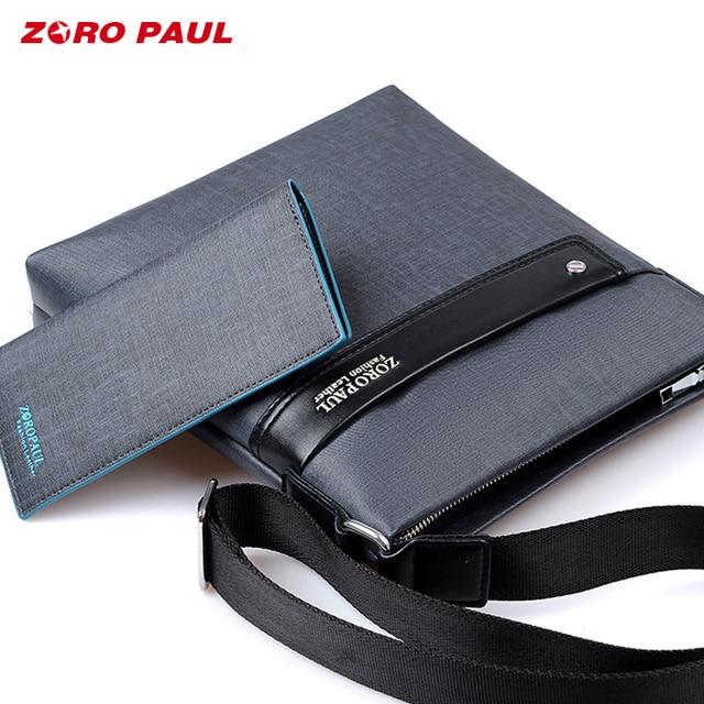 b5e6e82a0bfb ZORO PAUL Casual Business Men Messenger Bags High Quality PU Leather  Crossbody Shoulder Bags for Men Waterproof Man Bag Purse