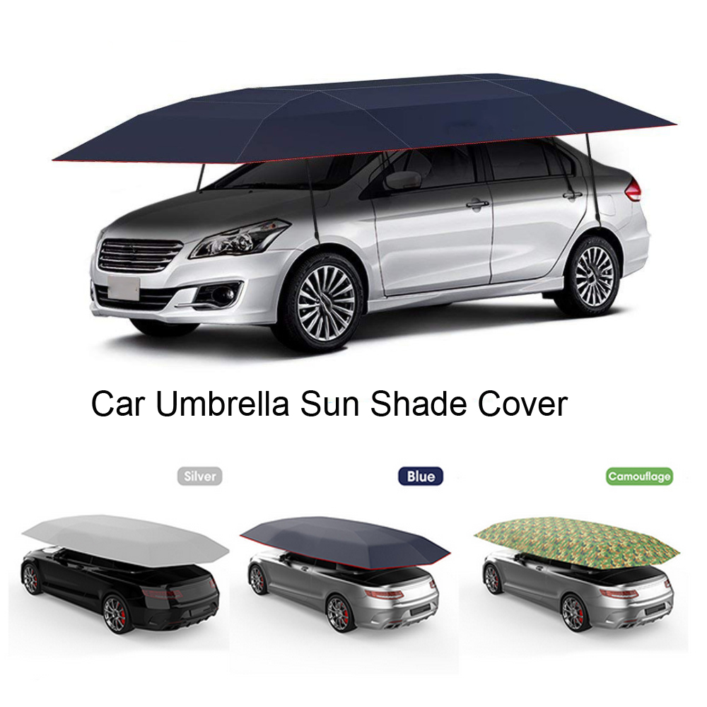4.2*2.1M Outdoor Car Vehicle Tent Car Umbrella Sun Shade Cover Oxford Cloth Polyester Covers Without Bracket Car Styling