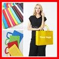 (1000pcs/lot) custom logo PP Polypropylene non woven reusable shopping eco bag