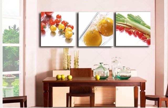 Tela Immagine Verdura e Frutta Dipinti per la Cucina