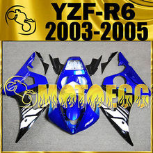 Motoegg Injection Fairings Fit FOR YAMAHA YZFR6 YZF R6 03-05 Plastic Blue Hot#Y64M28   Motorcycle plastic