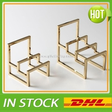 Wholesale Polished Gold Metal Wallet Purse Display Stand, Purse Wallet Holder Rack, Purse Holder