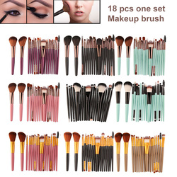 18 PCS Cosméticos Pincéis de Maquiagem profissional Kits Pincel Foundation Blush Sombra Lip Escova Fã Pó Pincéis de Maquiagem Conjunto