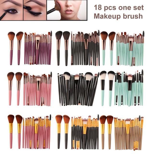 Juego de brochas de maquillaje cosmético profesional de 18 piezas, juego de brochas de maquillaje en polvo de Pincel