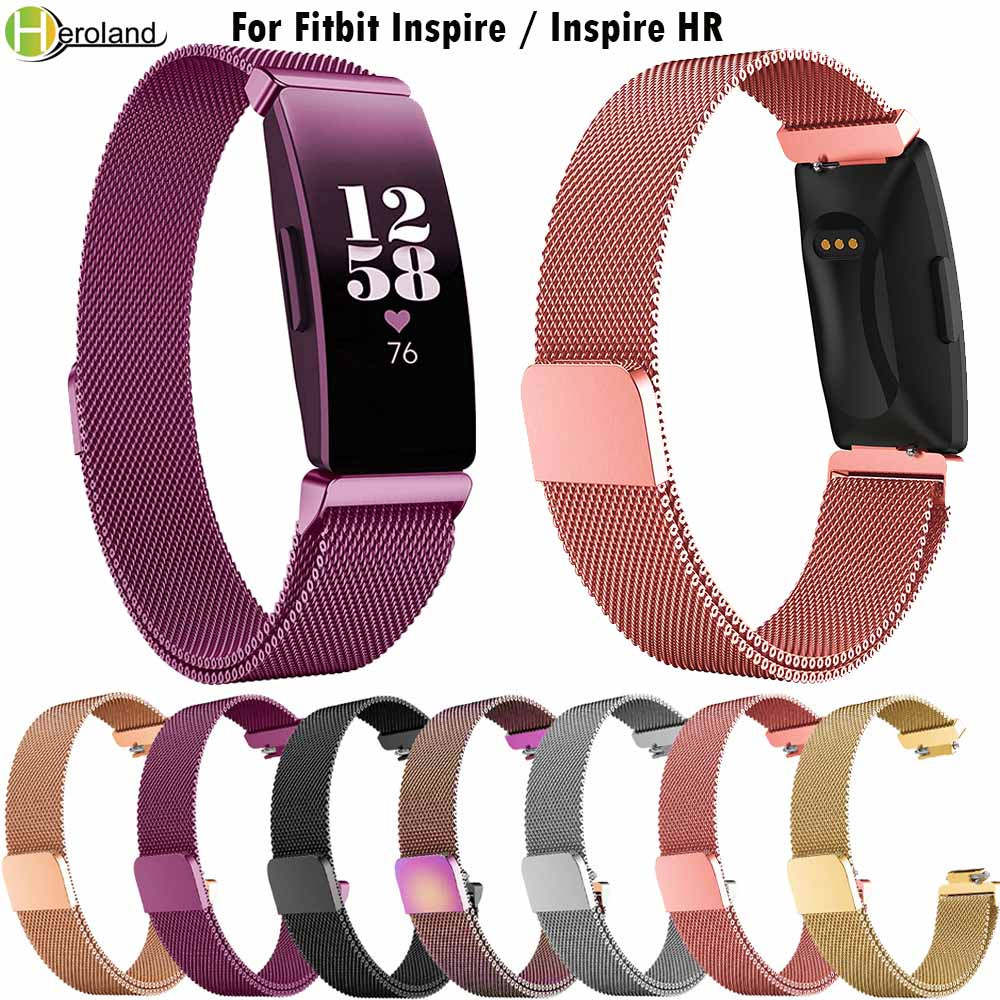 For Fitbit Inspire HR Band Replacement Milanese Loop Magnetic Stainless Steel Strap Bracelet Betl for Fitbit Inspire AccessoriesFor Fitbit Inspire HR Band Replacement Milanese Loop Magnetic Stainless Steel Strap Bracelet Betl for Fitbit Inspire Accessories