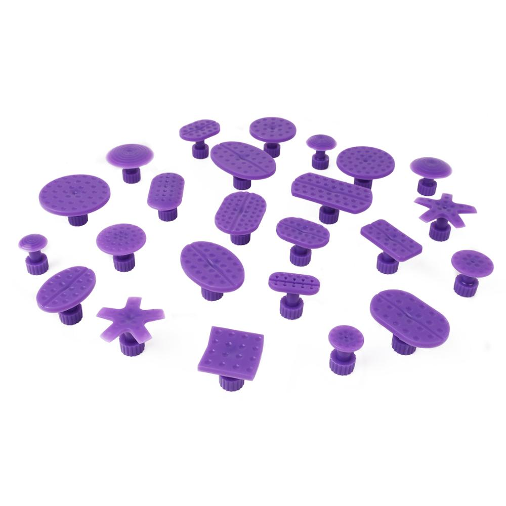 Pdr Tools 24pcs Purple Glue Puller Tabs For Paintless Dent Repair Hail Removal Tool Dent Puller Tabs Dent Lifter Hand Tool Set