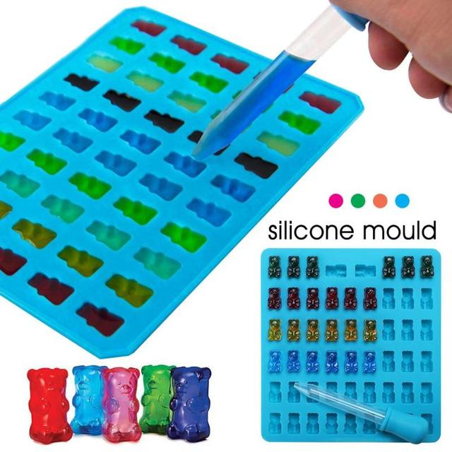 53 Bear Silicone Gummy Bear Chocolate Mold Candy Maker Ice Tray Jelly Moulds  Baby Shower Decorative