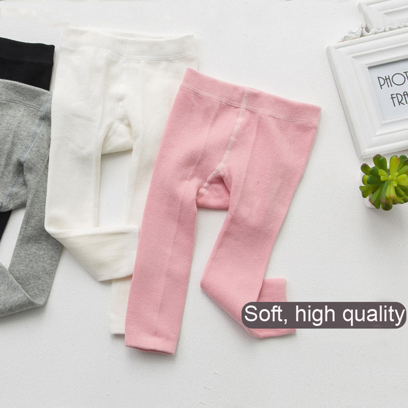 0-24 M Baby Meisje & Jongen Leggings Kids Katoen Dobby Solide Kleur Regelmatige Mid Elasic Taille Leuke Broek Kleuren Zijn Opvallend
