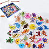 Drewniane zabawki wędkarskie zestaw magnetyczny gra z rybami dziecko wczesna zabawka rozwijająca inteligencję zabawa na świeżym powietrzu zabawki dla dzieci prezenty dla dzieci