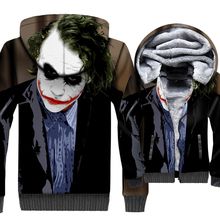 Batman The Dark Knight Joker 3D Hoodies Men 2019 Autumn Winter Punk Style Mens Sweatshirts Hip Hop Coat Zip Up Jackets For Fans