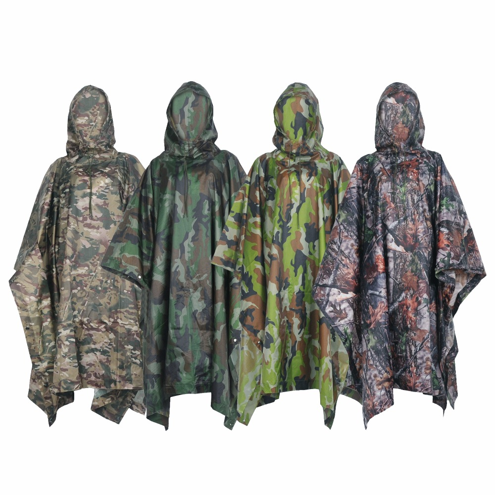 Image 2 - VILEAD Polyester Impermeable Outdoor Raincoat Waterproof Women Men Rain Coat Poncho Cloak Durable Fishing Camping Tour Rain Gear-in Raincoats from Home & Garden
