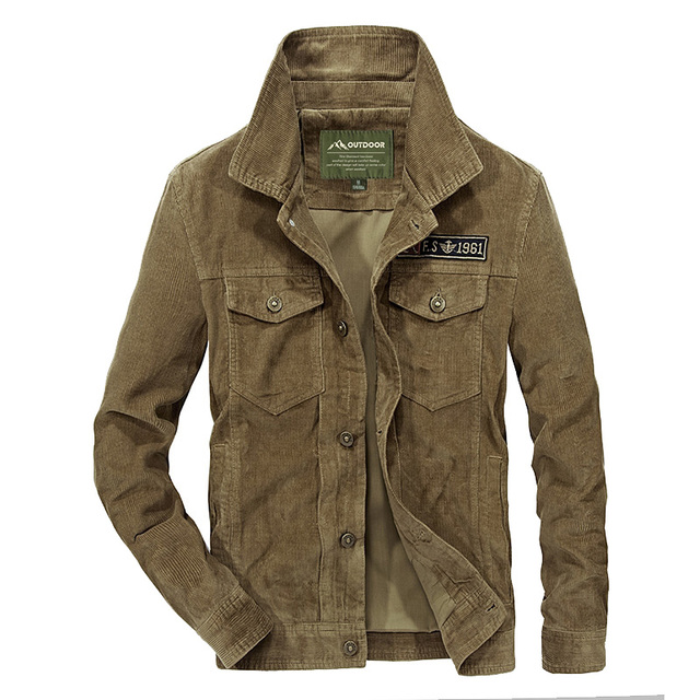 Designer Men's Corduroy Jacket Fashion Solid Turn Down Collar Overcoat Plus Size Casual Jacket Coat For Men Ourwear 4xl BF58131