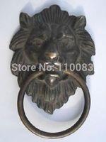 Vintage Handwork Teapot For Chinese Oriental Chinese Bronze Fierce Lion Head Door Knocker 4 4 High