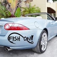 Fish On Fishing Sportsman Home Decor Car Truck Window Decal Sticker Car Accessories Motorcycle Car Sticker 3 sizes outdoor sports go fishing white perch car sticker window fish tank decal vinyl tape h8100