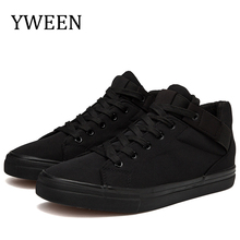 YWEEN Fashion Men Casual Shoes High Quality Canvas Breathable Lace up Sneakers