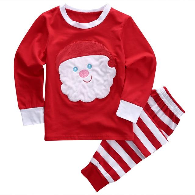 3e8545515a 2016 Christmas Toddler Kids Baby Boy Girl Clothes Cute XMAX Long Sleeve  Reindeer Snowman 2PCS Sleepwear Pajamas Set