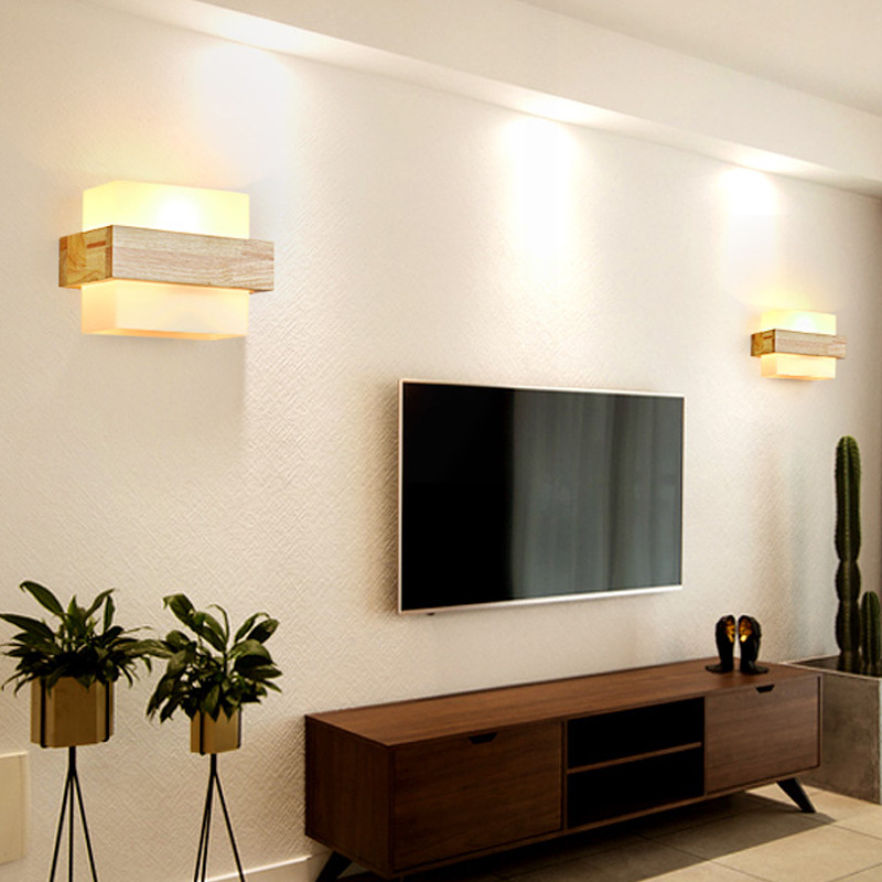 Modern Chinese LED Wall Light Solid Wood Indoor Lighting  Home Decoration Bedside Lamp Bedroom / Living Room / Study  AC 90-260VModern Chinese LED Wall Light Solid Wood Indoor Lighting  Home Decoration Bedside Lamp Bedroom / Living Room / Study  AC 90-260V