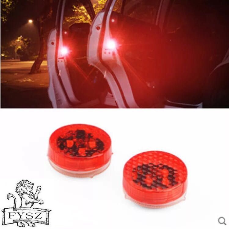 4 X LED door anti collision warning light general flash decorative light 3SMD wiring free red white blue yellow door light 12v-in Decorative Lamp from Automobiles & Motorcycles