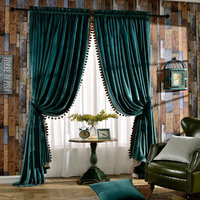 Selling Modern Velvet Material With Soft Feel Curtain Tulle Living Room Custom Made With The Finest