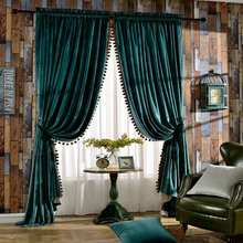 Selling modern velvet material with soft feel Curtain tulle living room custom made with the finest quality