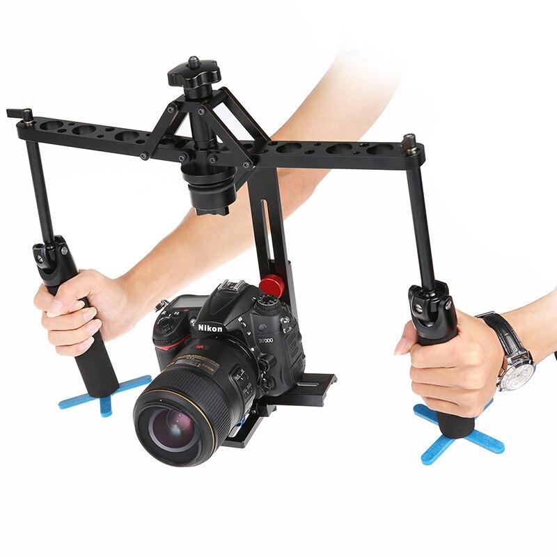 Stabilisateur d'araignée portable noir vidéo Steadicam plate-forme stable pour appareil photo reflex numérique caméscope transport rapide livraison gratuite