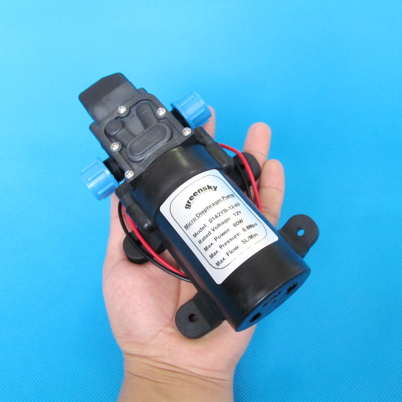 DC 60W Automatic switch Diaphragm pump high pressure small electric ...