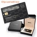 С коробкой, американский экспресс Центурион черная карта металлический чип карта пользовательский подарок бесплатная доставка