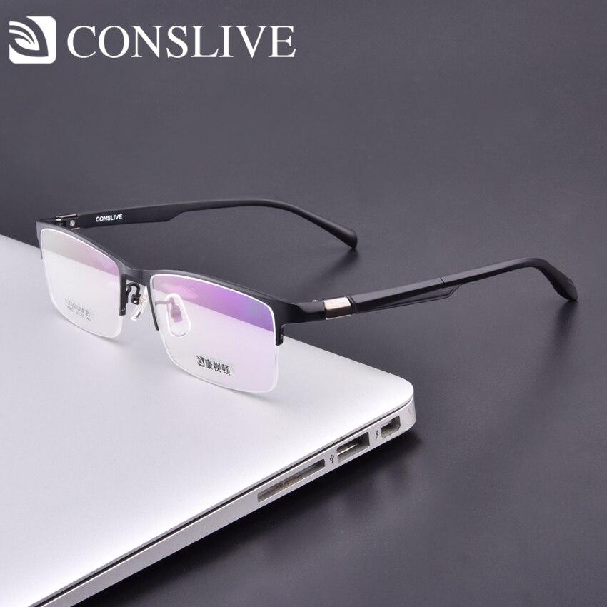 Big Men Optical Glasses Frames for Prescription Minus Diopters Titanium Nearsighted Eyeglasses Oversized Men V8952