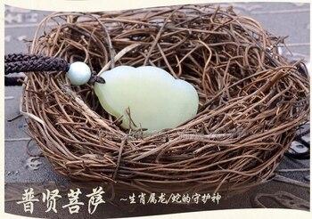 Pendentifs De Jade Chinois   Blanc Naturel Hetian Jade + 18 K En Or Massif Incrusté Chinois Mille-Main GuanYin Chanceux Amulette Pendentif + Livraison Collier Bijoux