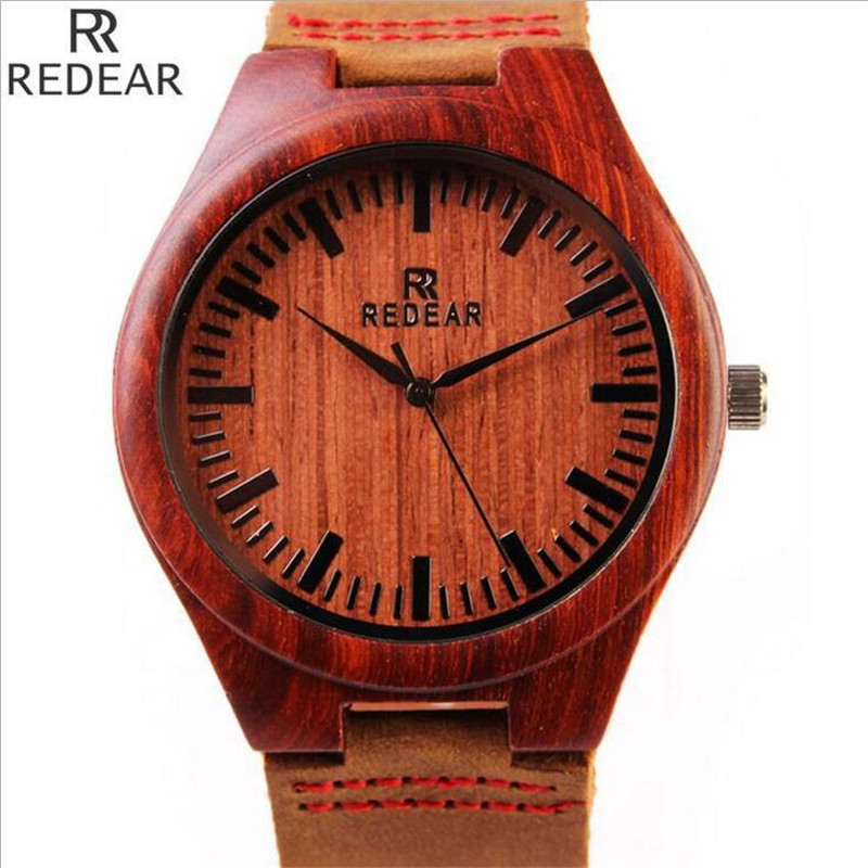 REDEAR1412 antique wood materials manufacturing men s font b watch b font quartz font b watch