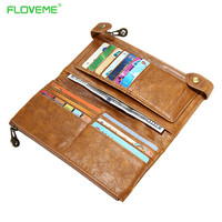 13 Card Slots Genuine Leather Case For Samsung Galaxy S6 S7 Edge S5 J5 J7