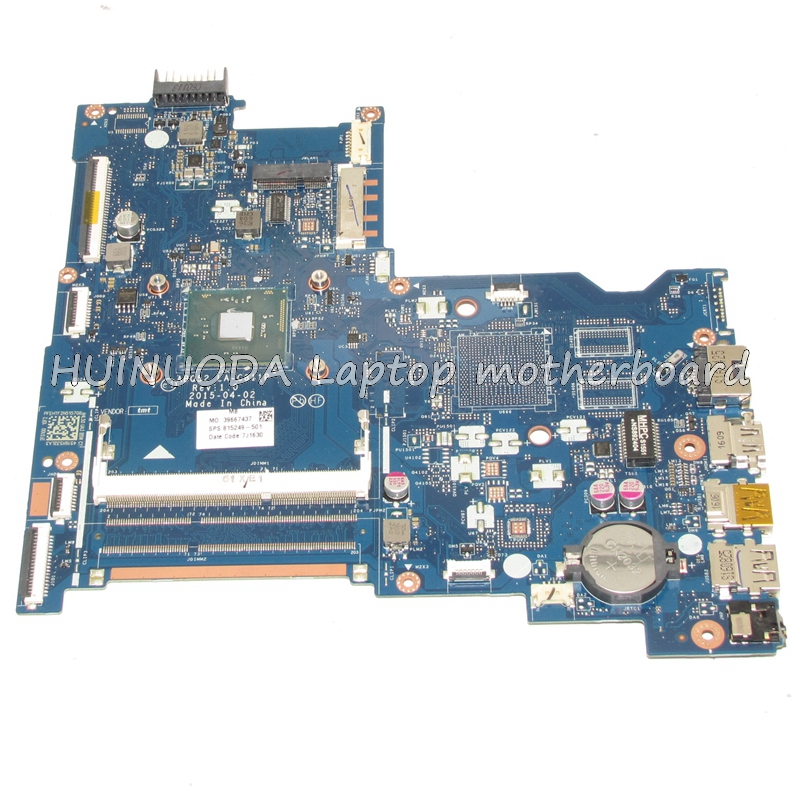 NOKOTION Original 815249-501 815249-001 ABQ52 LA-C811P Laptop motherboard For HP 15-AC N3150 CPU Mainboard works nokotion original laptop motherboard abl51 la c781p 813966 501 for hp 15 af mainboard full test works
