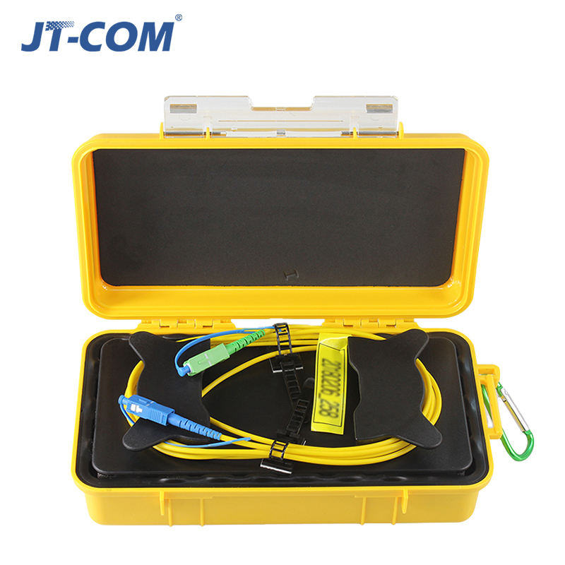1km SM SC UPC SC APC OTDR Launch Cable Box 1310 1550nm Jumper Rings Dead Zone