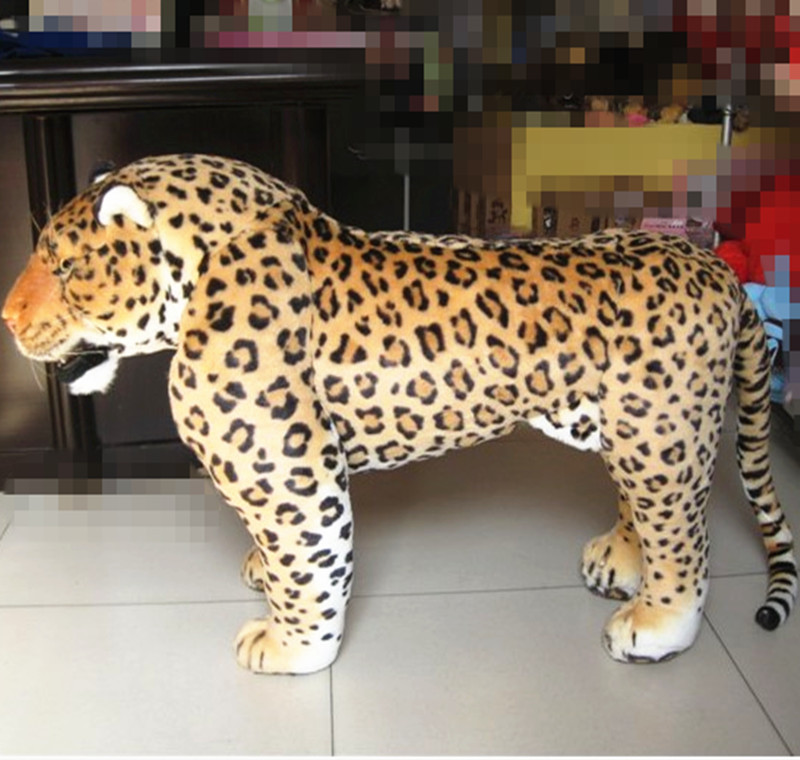 new creative simulaiton leopard toy plush big standing leopard doll children birthday gift about 110x70cm 0843