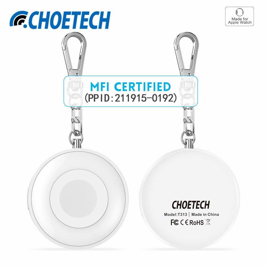 900 mAh MFi certifié batterie externe sans fil Station de chargement magnétique chargeur de batterie externe pour Apple Watch avec porte-clés
