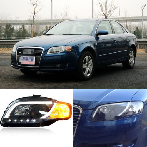 Ownsun Super Cool Innovative Laser Eye DRL LED Light For Audi A4 B7 Headlight 2005-2008 2x no errors xenon white 50w p13w c ree led bulbs drl for 2008 12 audi b8 model a4 or s4 with halogen headlight trims