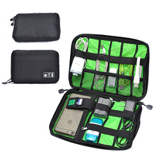 Multifunctional Portable Organizer Cosmetic Bag Digital Gadget Devices USB Cable Earphone Pen Travel Insert Bags O25